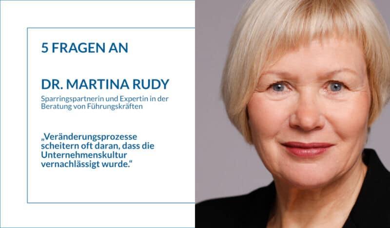5 Fragen an Dr. Martina Rudy: Veränderungsprozesse und Genderstereotypisierung